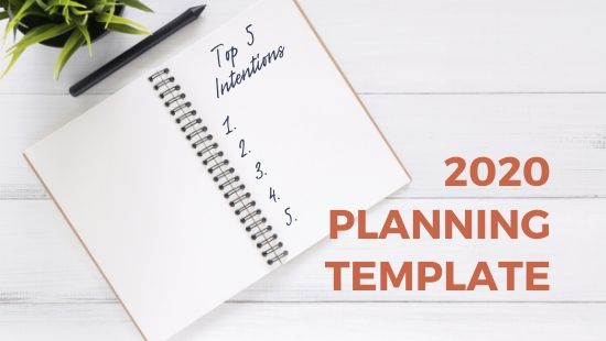 Here's my Downloadable 2020 Planning Template