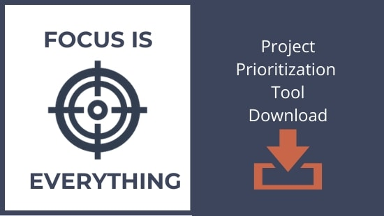Focus is Everything:  Download the Project Prioritization Tool